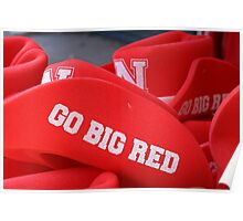 Go Big Red Hats Poster