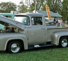 Classic 1956 Ford F100 - Cruise Night - Oakland Beach - RI by Jack McCabe