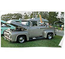 Classic 1956 Ford F100 - Cruise Night - Oakland Beach - RI Poster