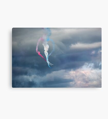 The Red Arrows love heart display Canvas Print