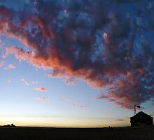 Sunset Over Stage Coach Stop by Anthony Boccaccio