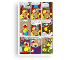 "Rick the chick  ""THE MAGIC SHELL (ITALIANO) parte 7"" Canvas Print"
