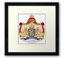 Je Maintendrai - Nederland - Coat of Arms Framed Print