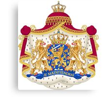 Je Maintendrai - Nederland - Coat of Arms Canvas Print