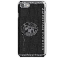 American Express Black iPhone Case/Skin