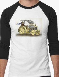 Steampunk Tractor Men's Baseball ¾ T-Shirt