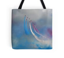 The Red Arrows and a coloured sky Tote Bag