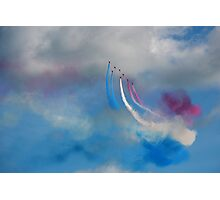 The Red Arrows and a coloured sky Photographic Print