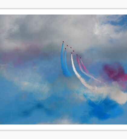 The Red Arrows and a coloured sky Sticker