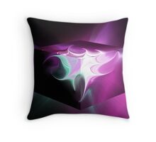 Layered Fractal, Cubed Throw Pillow