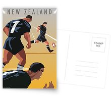 Kickoff  Rugby New Zealand Postcards