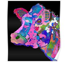 Colorful Bessie the Cow  Poster