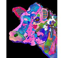 Colorful Bessie the Cow  Photographic Print