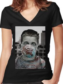 GOP 2016 Women's Fitted V-Neck T-Shirt