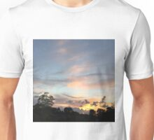 Sunsets cloud reach Unisex T-Shirt