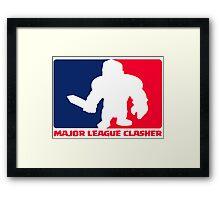 Major League Clasher Framed Print