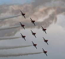 The Red Arrows perfect diamond by Tony Steel