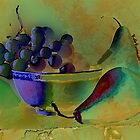 Still Life Grapes and Pears  by Kate Farrant