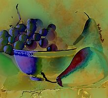 Still Life Grapes and Pears  by kreativekate