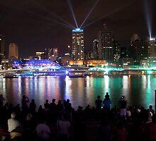 Santos Laser Light Show Brisbane by Iconphotos