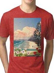 Orewa Beach, New Zealand Tri-blend T-Shirt