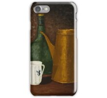 Still life with ancient teapot iPhone Case/Skin