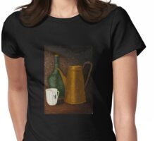 Still life with ancient teapot Womens Fitted T-Shirt