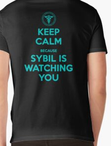 Keep Calm, Sybil is watching you Mens V-Neck T-Shirt