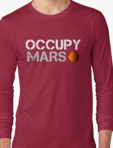 Occupy Mars Black Long Sleeve T-Shirt