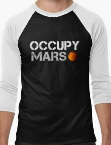 Occupy Mars Black Men's Baseball ¾ T-Shirt