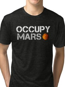 Occupy Mars Black Tri-blend T-Shirt