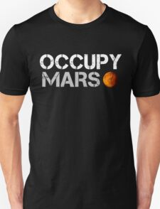 Occupy Mars Black Unisex T-Shirt