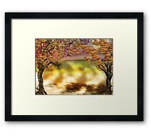 Autumn Tree Print Framed Print