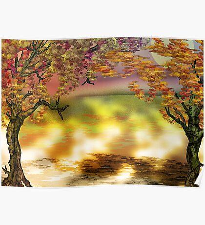 Autumn Tree Print Poster