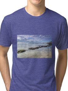 Lyme Regis Seascape - October Tri-blend T-Shirt