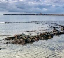 Lyme Regis Seascape - October Sticker