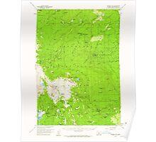 USGS Topo Map Oregon Broken Top 282280 1959 62500 Poster