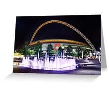 Wembley Stadium & Fountain Greeting Card