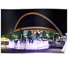 Wembley Stadium & Fountain Poster