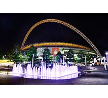 Wembley Stadium & Fountain Photographic Print