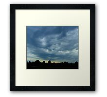 Sculpted Sky Framed Print