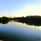 Lake Sunset Panorama by Ravi Chandra