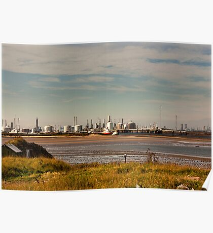 Industry on the River Tees Poster