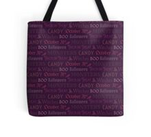 Purple Halloween Words Tote Bag