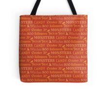 Orange Halloween Words Tote Bag