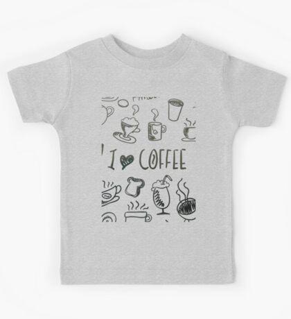 I Love Coffee Kids Tee