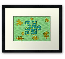 Puzzles pieces Framed Print