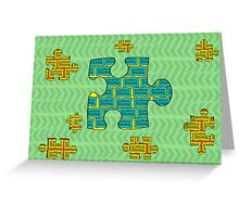 Puzzles pieces Greeting Card