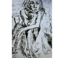 female thinker Photographic Print