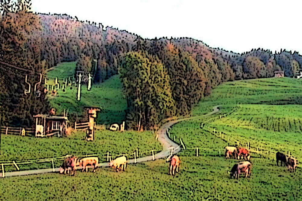 """Grazing In The Alps - Koblach, Austria"" by Michelle Lee Willsmore"